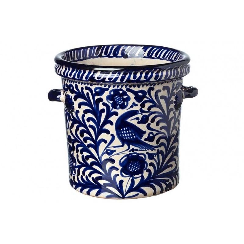 Ice Bucket - Blue & White