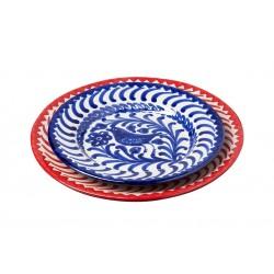 Assiette Ceramique Medium  Oiseaux Rouges