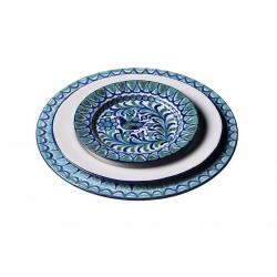 Assiette Céramique Medium Ecru/bleu