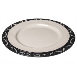 Ceramic Plate White Black