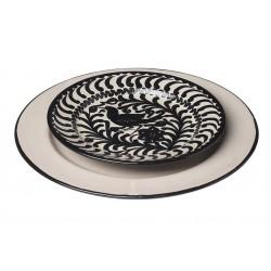 Assiette Céramique Medium Bord Noir