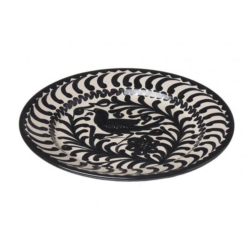 Assiette Ceramique Petite Oiseaux Noir/blanc