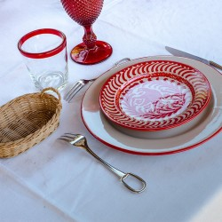 Assiette Ceramique Rouge