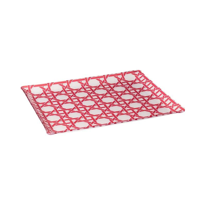 Coral Californian Cannage Tray