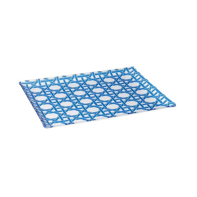Blue californian cannage tray