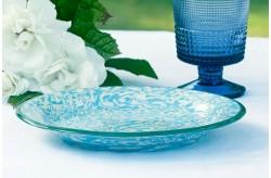Assiette Terre Melée Bleu/vert