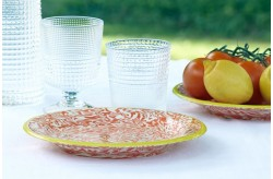 Assiette Terre Melée Orange/jaune