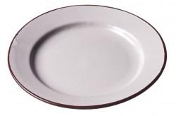 Assiette Céramique Petite Ecru/marron