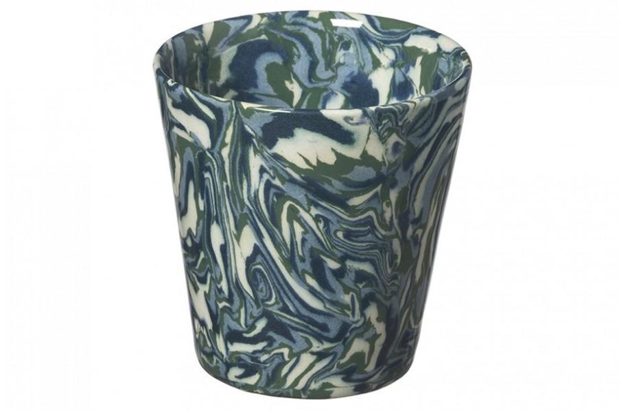 Gobelet Terre Melee  vert bleu écru