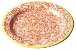 Assiette Pain Terre Melee Ecru Orange 15