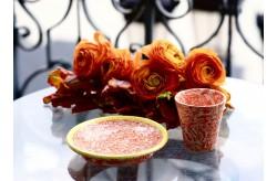 Assiette Pain Terre Melee Ecru Orange 15